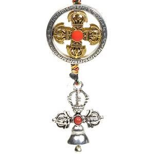 Bilde av Protective pendant double dorje with bell