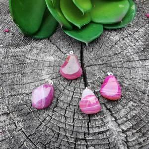 Bilde av Agat, rosa (F) Anheng 2-3 cm