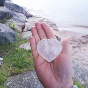 Bilde av Hjertesten i Bergkrystall , Large 5 -6,5 cm