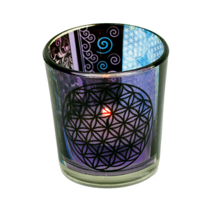 Bilde av Candle light holder Flower of life