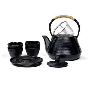Bilde av  SET: Tetsubin Teapot 1 Litre with Coaster + 4