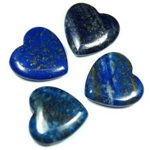 Bilde av Lapis Lazuli hjerte lommestein 35mm