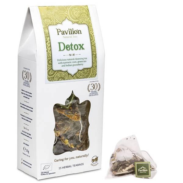 Ayurvedic herbal tea Detox cardboard box organic