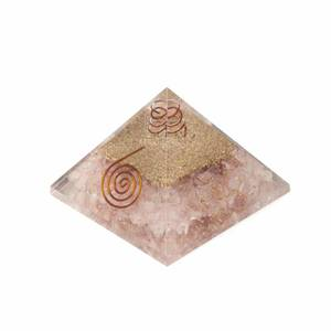 Bilde av Large Orgonite pyramid Rose Quartz with spiral