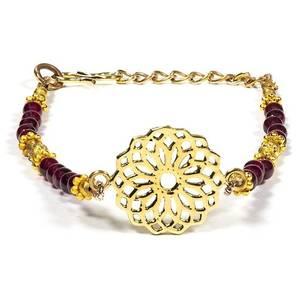 Bilde av Bracelet seed of life with garnet