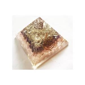 Bilde av Rose-Amethyst-Crystal Quartz Orgone Pyramid