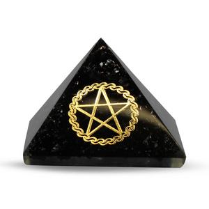 Bilde av Orgonite pyramid - Black Tourmaline, Pentacle