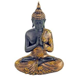 Bilde av  Praying Buddha antique finish Thailand 23 cm