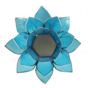 Bilde av Lotus atmospheric light chakra 5 blue silver trim