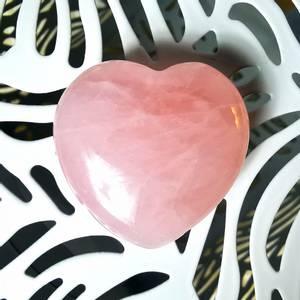 Bilde av Rosenkvarts hjerte lommestein 30mm -