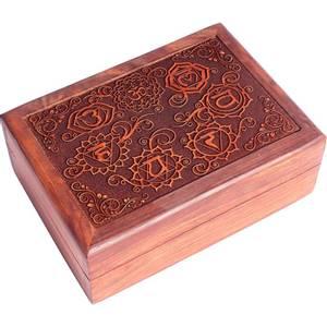 Bilde av Tarot box 7 chakras engraved