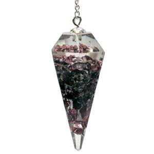 Bilde av Orgonitt Pendel/Orgonite pendulum garnet