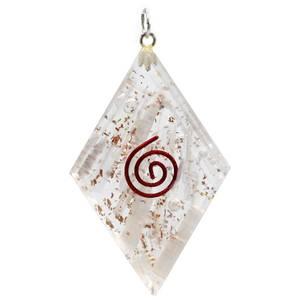 Bilde av Orgonitt anheng selenitt diamantform| Orgonite
