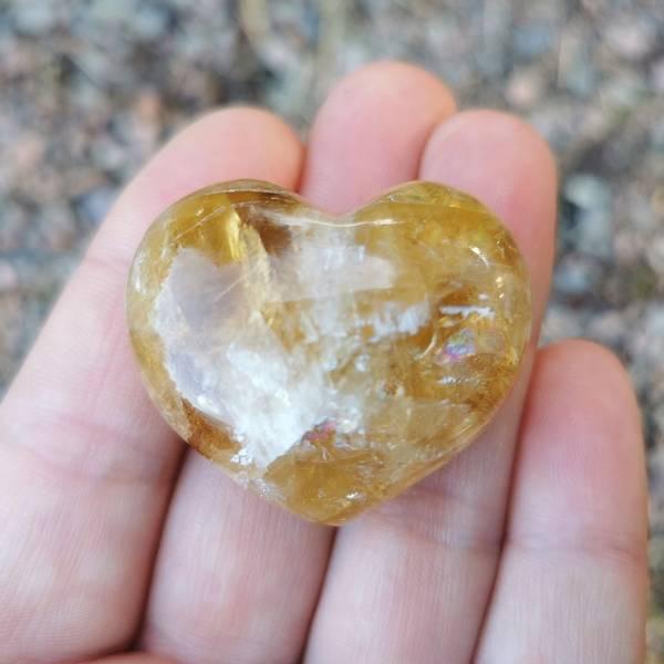 Golden Healer Quarts (Limonitt) Hjertesten