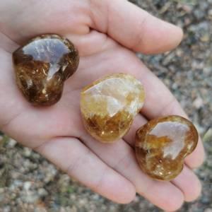 Bilde av Golden Healer Quarts (Limonitt) Hjertesten