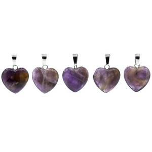 Bilde av Anheng hjerte ametyst /Pendant amethyst heart