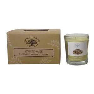 Bilde av Green Tree White Sage votive candles 55 grams