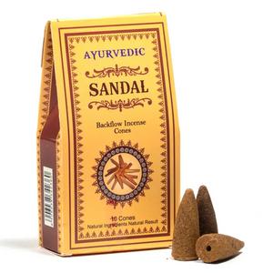 Bilde av Ayurvedic Sandalwood backflow incense cones