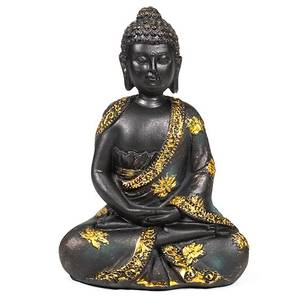 Bilde av Buddha figur - Meditation Buddha antique finish