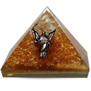 Bilde av Orgonitt pyramide med Engel Citrin og