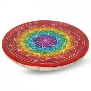 Bilde av Soapstone Flower of Life 7 Chakra Rings Incense