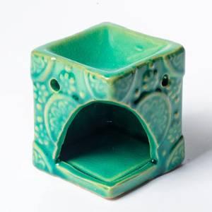 Bilde av Aromatic wax burner flowers green