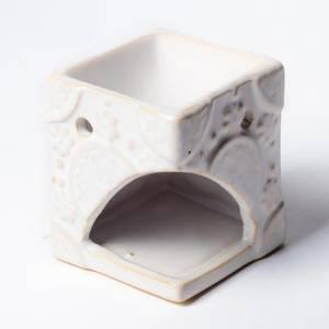 Bilde av Aromatic wax burner flowers white