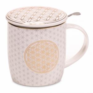 Bilde av Livets Blomst tekopp - Gift box Tea Infuser Mug
