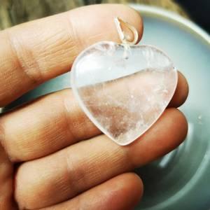 Bilde av Bergkrystall/ Rock Crystal hjerte anheng