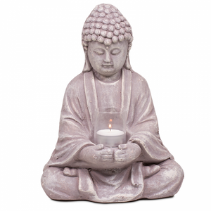 Bilde av Buddha med lysestake/Buddha with candle holder 28