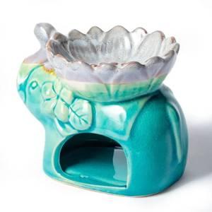 Bilde av Aromatic oil and wax burner elephant turquoise