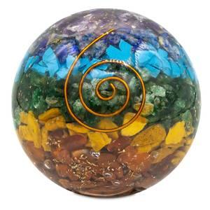 Bilde av Chakra Orgonitt Kule Stor  - Orgonite chakra ball