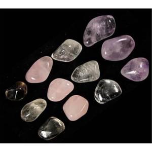Bilde av Sett med 4 stk Tromlet krystaller