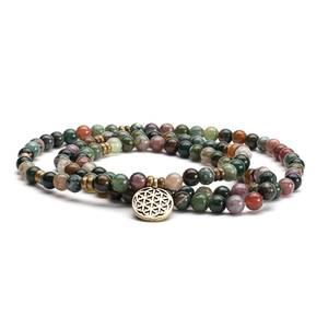 Bilde av Mala kjede/ Mala long bracelet, indian agate with