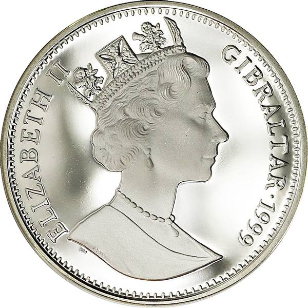 Bilde av Gibraltar 1 crown 1999 Koala!