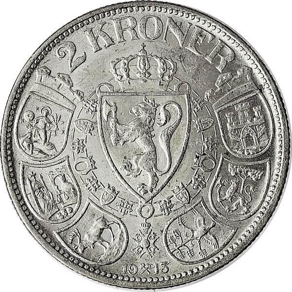 Bilde av 2 kroner 1913 Pen!
