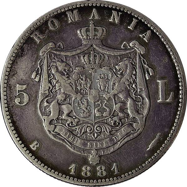 Bilde av Romania 5 lei 1881