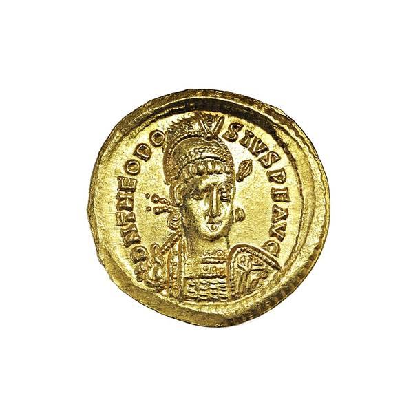 Bilde av Theodosius II Solidus 402-450 Gull!