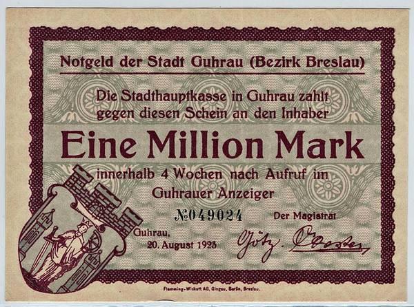 Bilde av Guhrau 1 000 000 mark 1923
