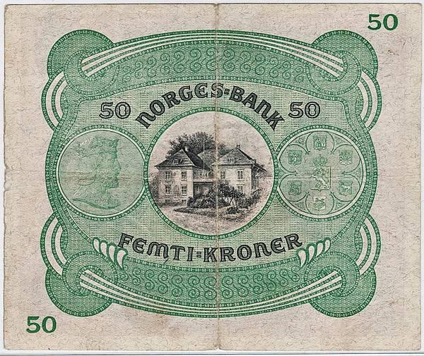 Bilde av 50 kroner 1940 C