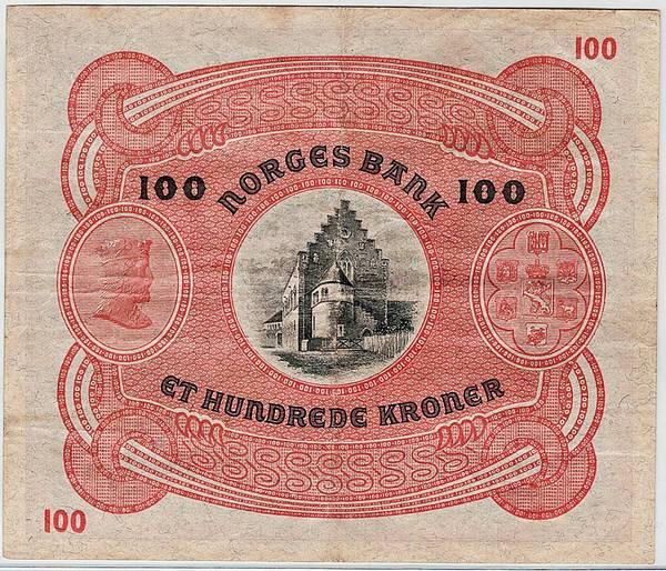 Bilde av 100 kroner 1936 B