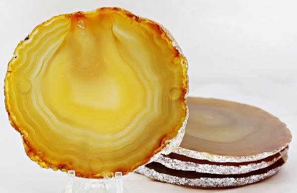 Bilde av Glassbrikke, agat, naturlig farge