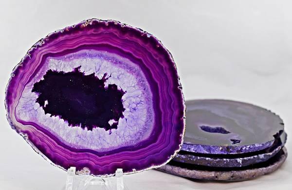 Bilde av Glassbrikke, agat, fiolett farge