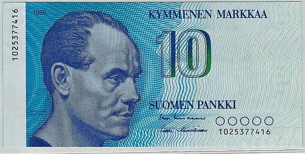 Bilde av Finland 10 markkaa 1986