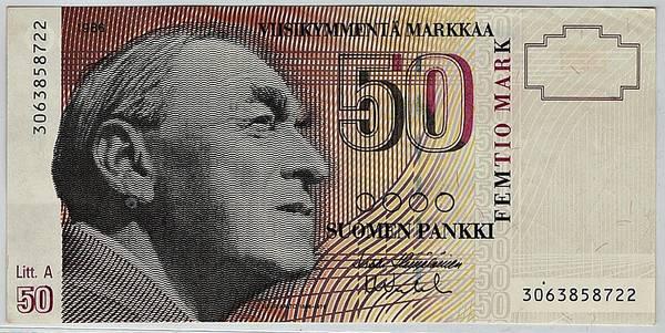 Bilde av Finland 50 markkaa 1986
