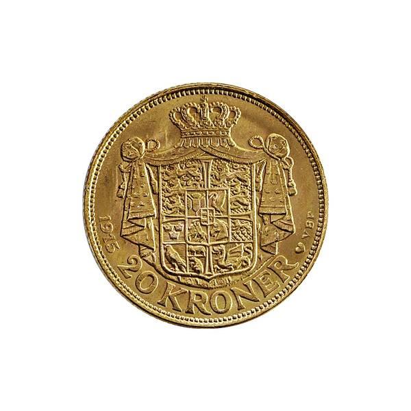 Bilde av Danmark 20 kroner 1915 GULL!