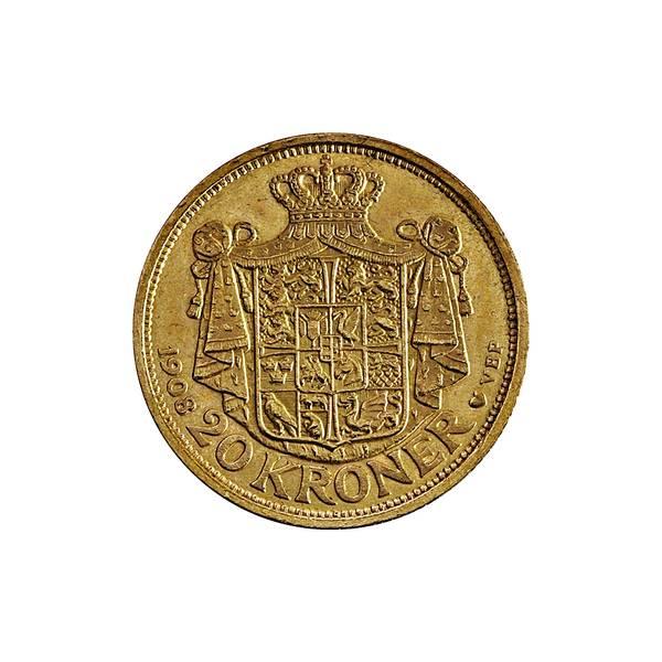 Bilde av Danmark 20 kroner 1908 GULL!