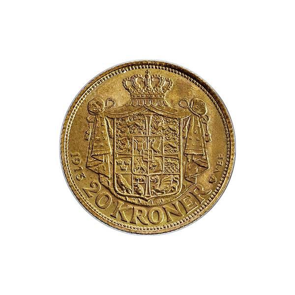 Bilde av Danmark 20 kroner 1913 GULL!