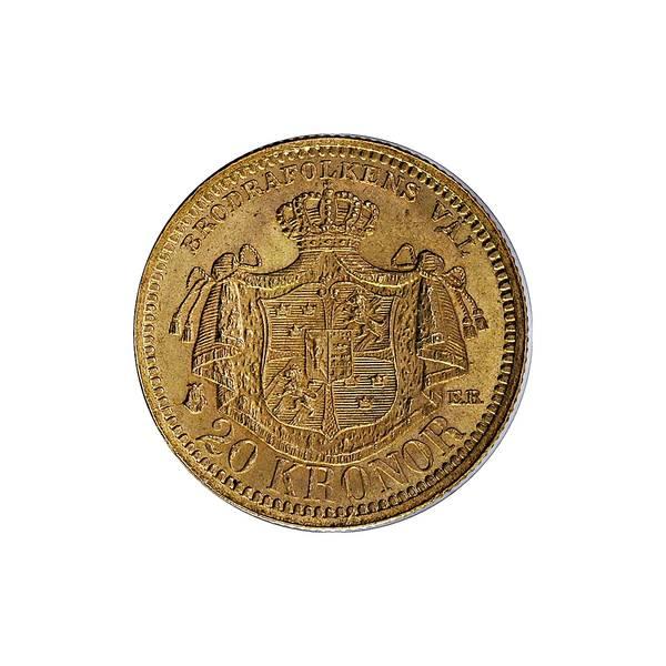 Bilde av Sverige 20 kronor 1877 GULL!