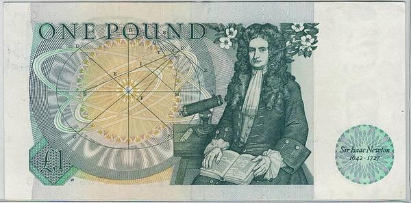 Bilde av England 1 pund Sir Isac Newton